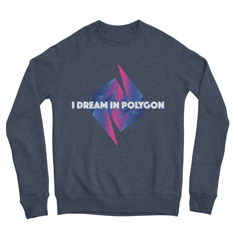 I Dream In Polygon Women's Sponge Fleece Sweatshirt by Norman Wilkerson Designs