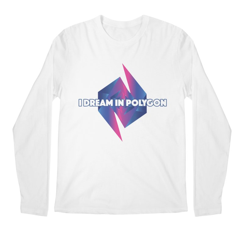I Dream In Polygon Men's Regular Longsleeve T-Shirt by Norman Wilkerson Designs