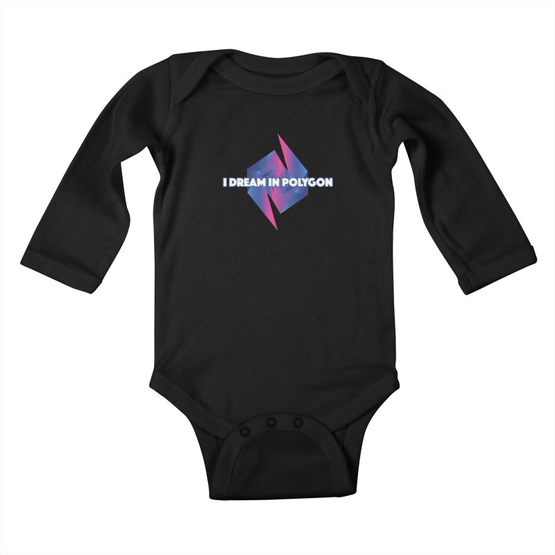 I Dream In Polygon Kids Baby Longsleeve Bodysuit by Norman Wilkerson Designs