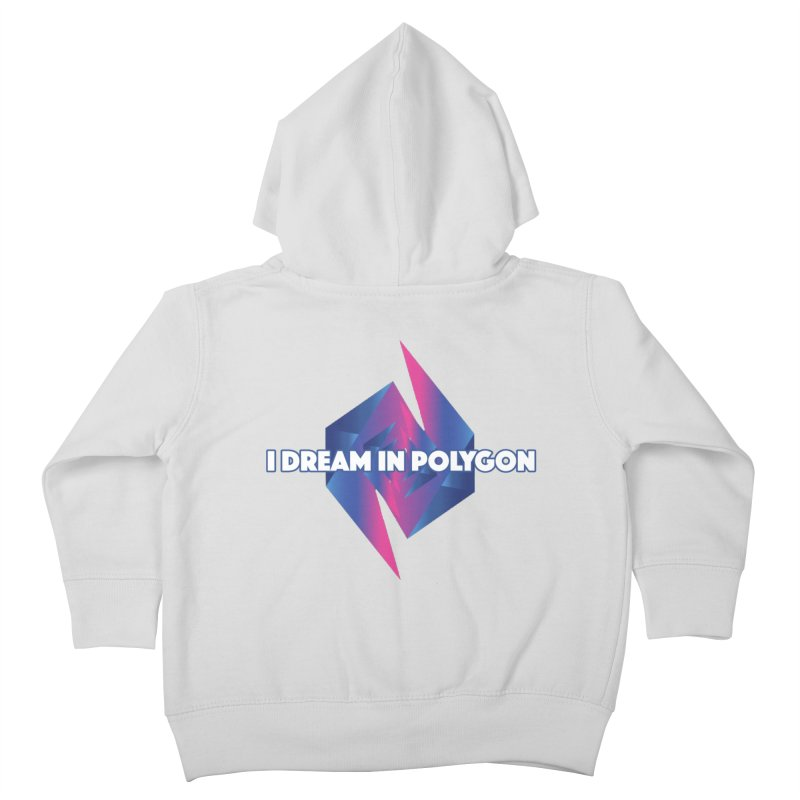 I Dream In Polygon Kids Toddler Zip-Up Hoody by Norman Wilkerson Designs
