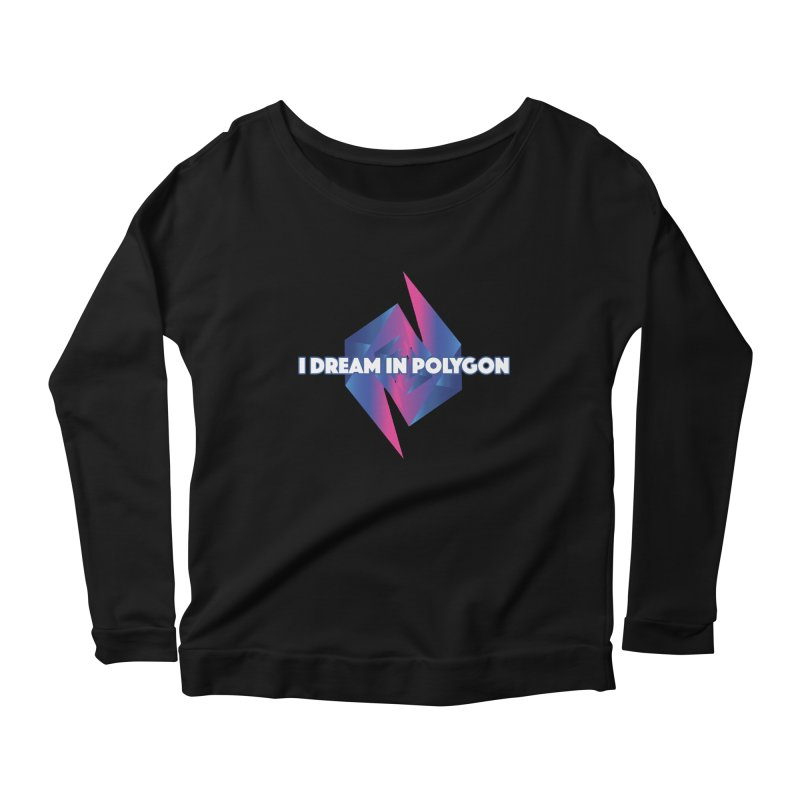 I Dream In Polygon Women's Scoop Neck Longsleeve T-Shirt by Norman Wilkerson Designs