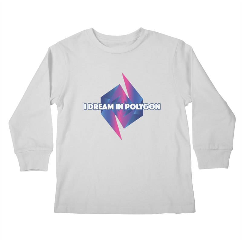 I Dream In Polygon Kids Longsleeve T-Shirt by Norman Wilkerson Designs