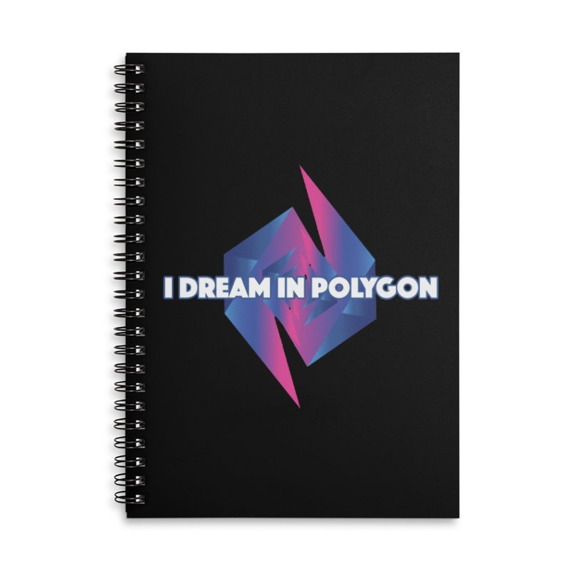 I Dream In Polygon Accessories Lined Spiral Notebook by Norman Wilkerson Designs