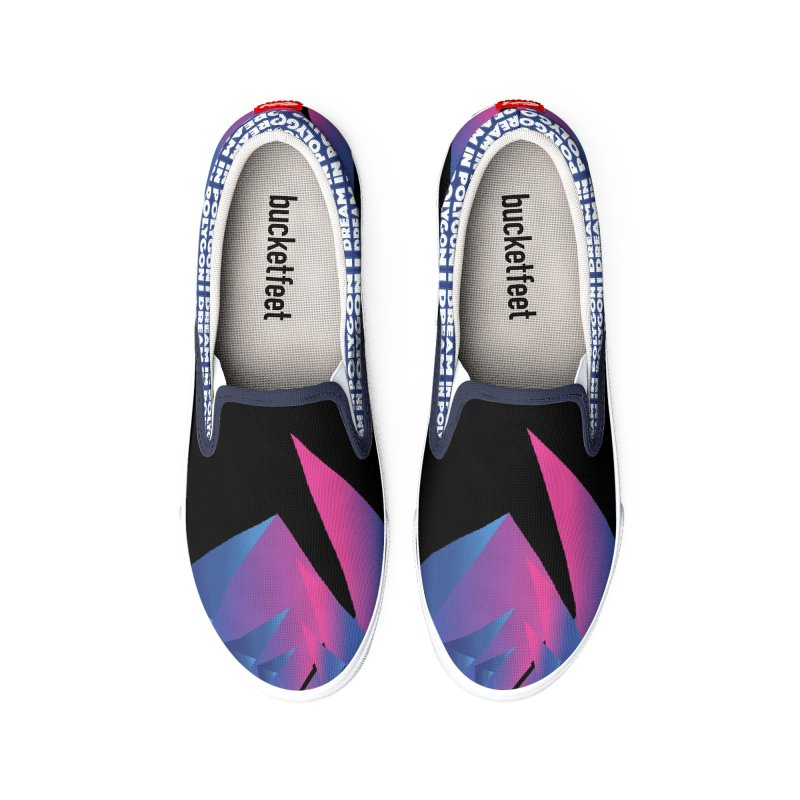 I Dream In Polygon Men's Shoes by Norman Wilkerson Designs