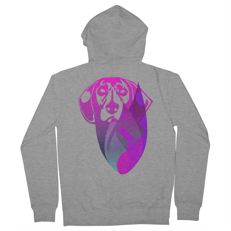 Dog Fire Men's French Terry Zip-Up Hoody by Norman Wilkerson Designs