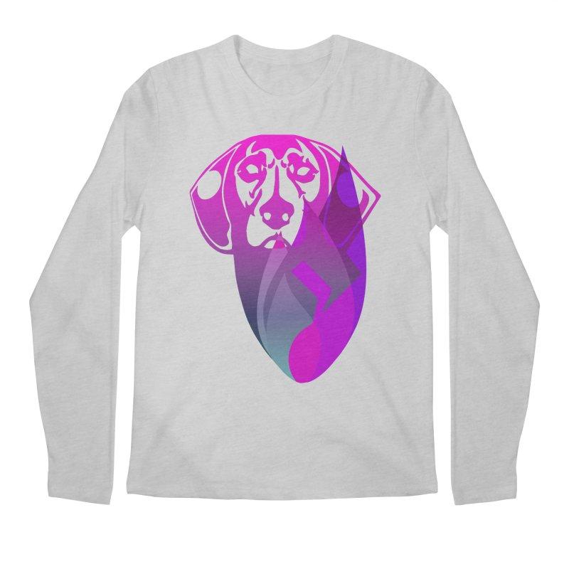 Dog Fire Men's Regular Longsleeve T-Shirt by Norman Wilkerson Designs