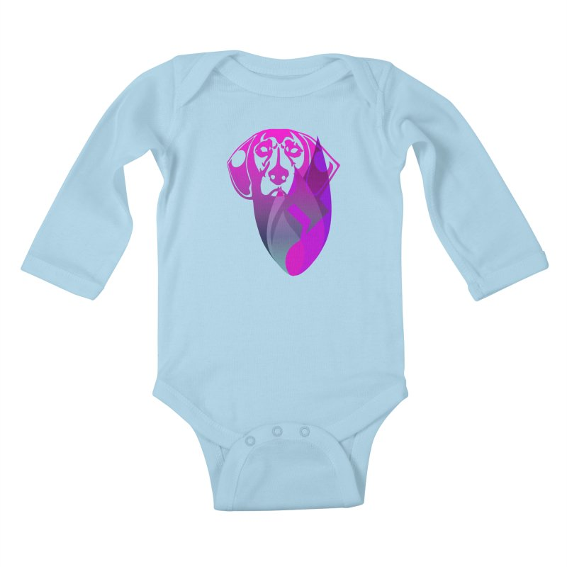 Dog Fire Kids Baby Longsleeve Bodysuit by Norman Wilkerson Designs