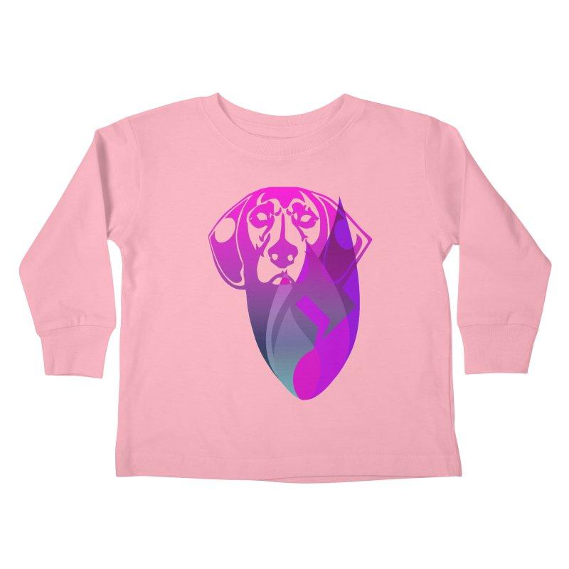 Dog Fire Kids Toddler Longsleeve T-Shirt by Norman Wilkerson Designs
