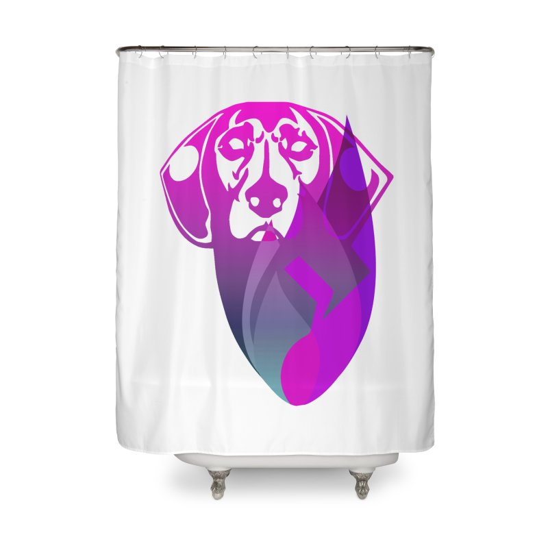 Dog Fire Home Shower Curtain by Norman Wilkerson Designs
