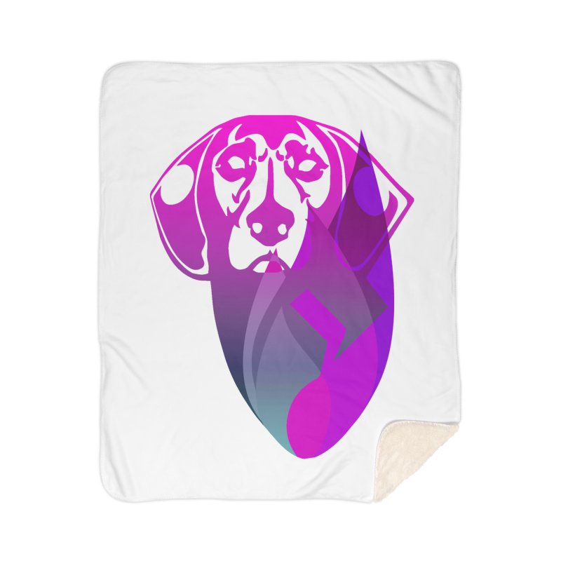 Dog Fire Home Sherpa Blanket Blanket by Norman Wilkerson Designs