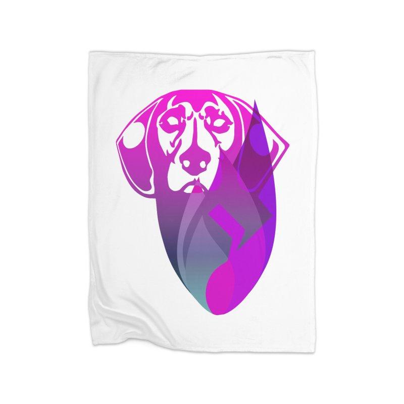 Dog Fire Home Fleece Blanket Blanket by Norman Wilkerson Designs