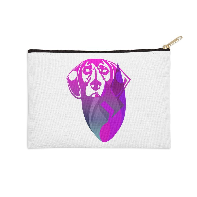 Dog Fire Accessories Zip Pouch by Norman Wilkerson Designs