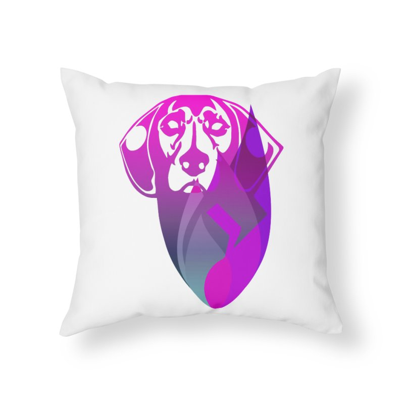 Dog Fire Home Throw Pillow by Norman Wilkerson Designs