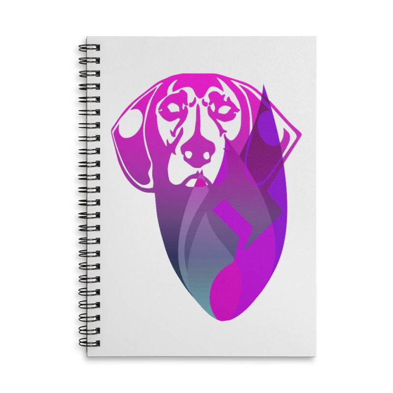 Dog Fire Accessories Lined Spiral Notebook by Norman Wilkerson Designs