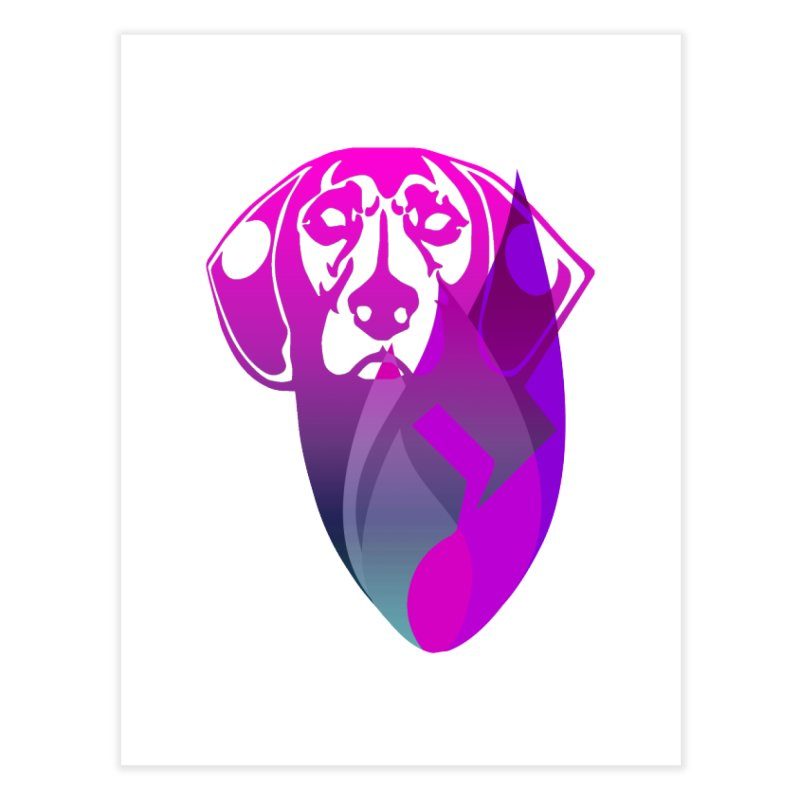 Dog Fire Home Fine Art Print by Norman Wilkerson Designs
