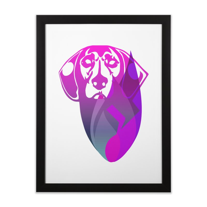 Dog Fire Home Framed Fine Art Print by Norman Wilkerson Designs