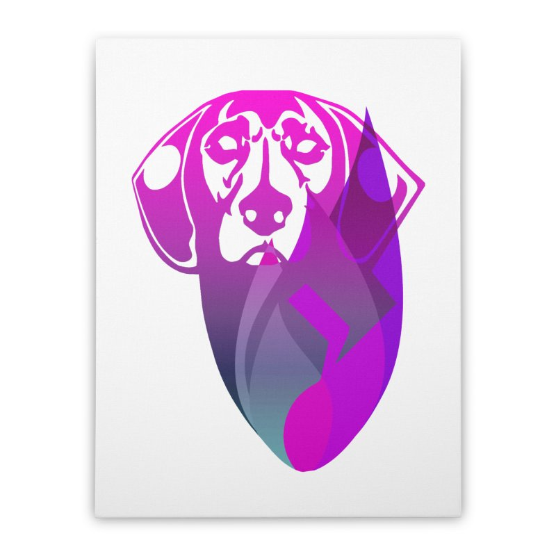 Dog Fire Home Stretched Canvas by Norman Wilkerson Designs
