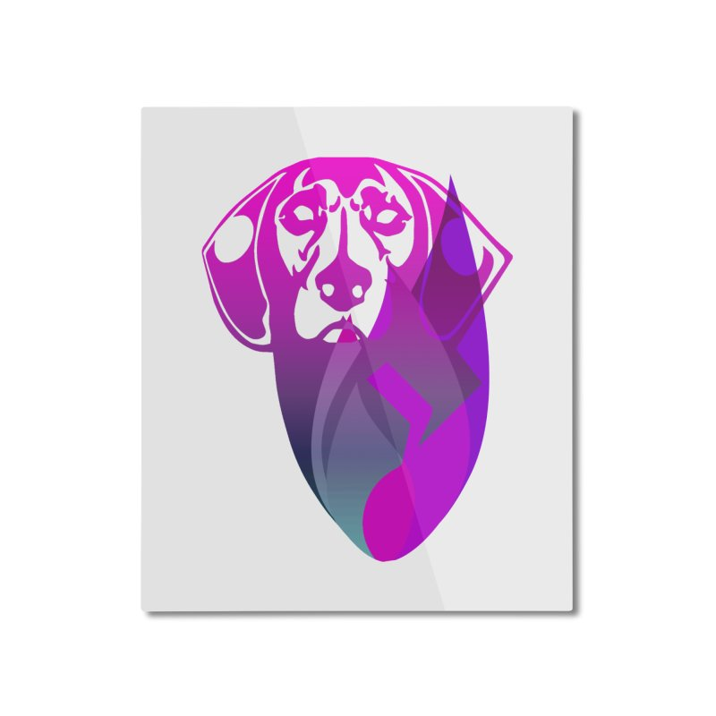 Dog Fire Home Mounted Aluminum Print by Norman Wilkerson Designs