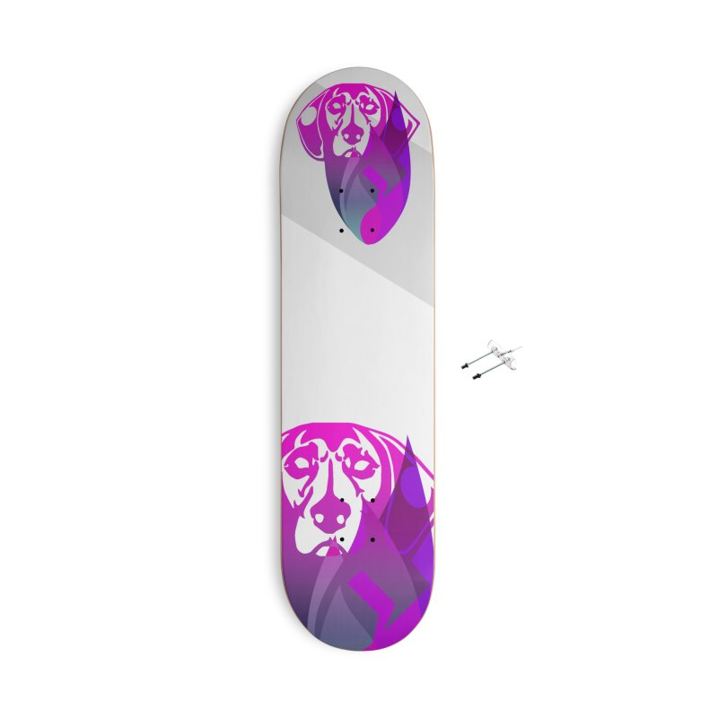 Dog Fire Accessories With Hanging Hardware Skateboard by Norman Wilkerson Designs