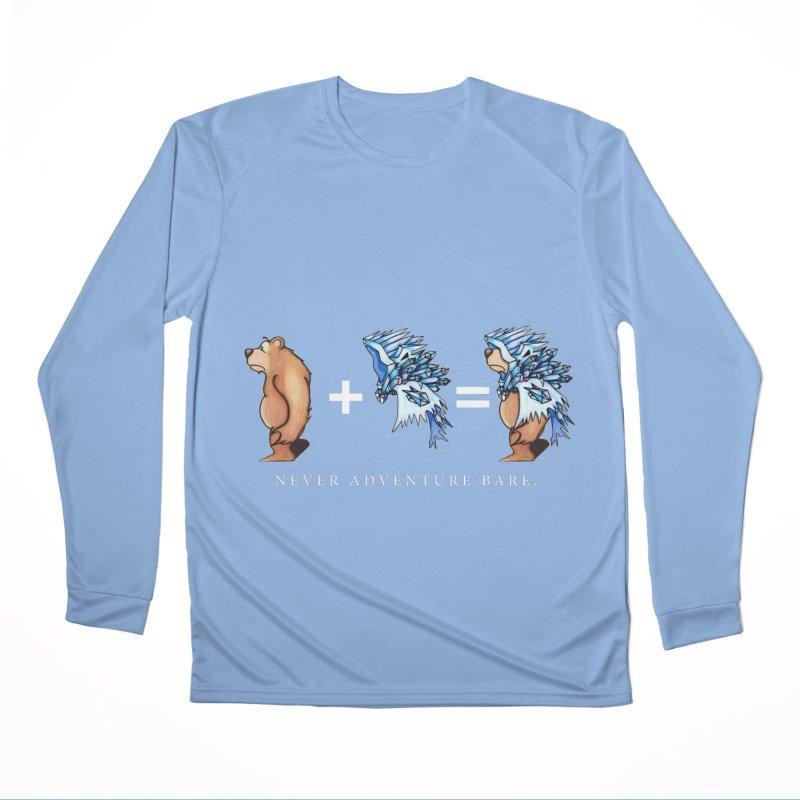 Blue Bear Men's Performance Longsleeve T-Shirt by Norman Wilkerson Designs