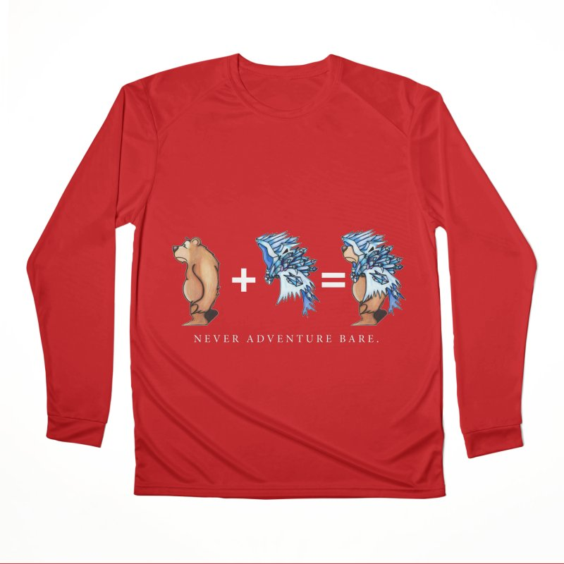 Blue Bear Women's Performance Unisex Longsleeve T-Shirt by Norman Wilkerson Designs