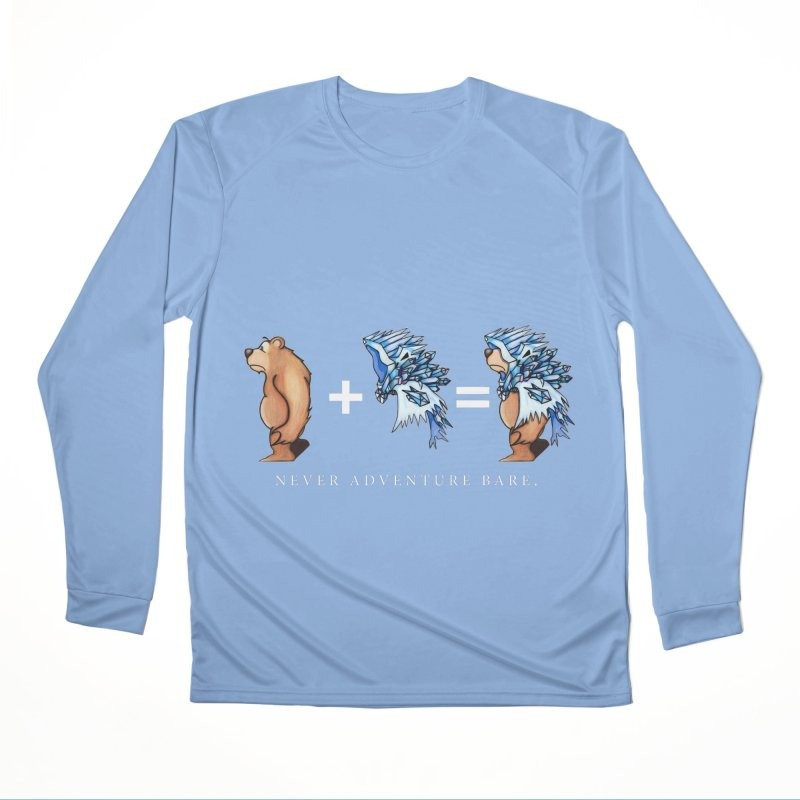 Blue Bear Women's Performance Unisex Longsleeve T-Shirt by Norman Wilkerson Designs