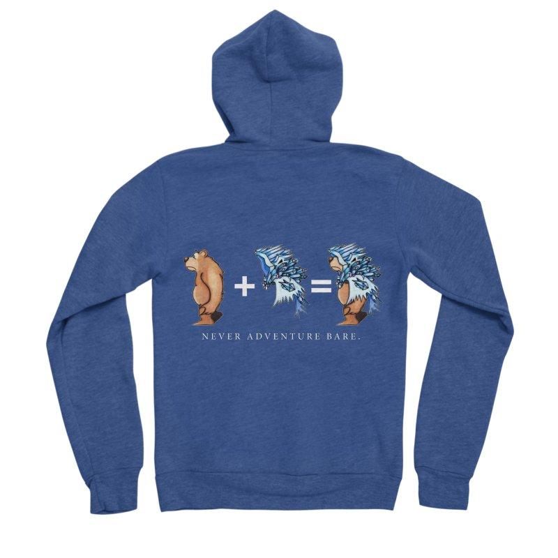 Blue Bear Women's Sponge Fleece Zip-Up Hoody by Norman Wilkerson Designs
