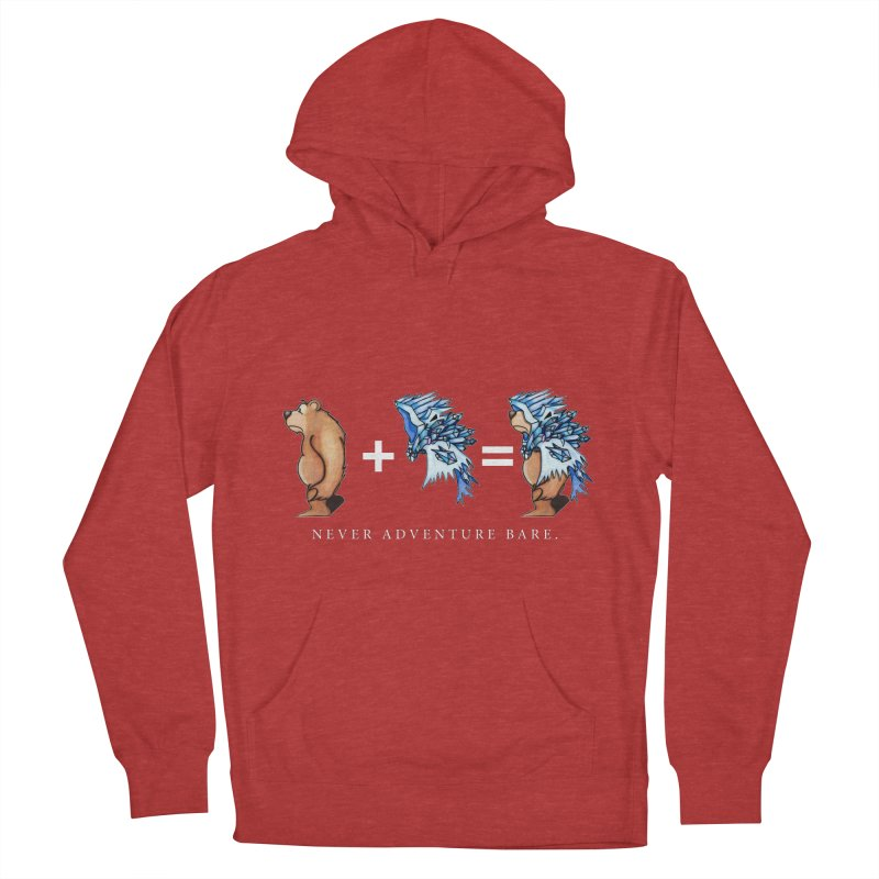 Blue Bear Men's French Terry Pullover Hoody by Norman Wilkerson Designs