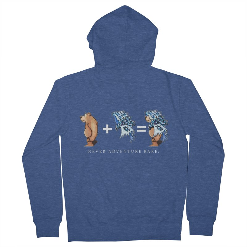 Blue Bear Men's French Terry Zip-Up Hoody by Norman Wilkerson Designs