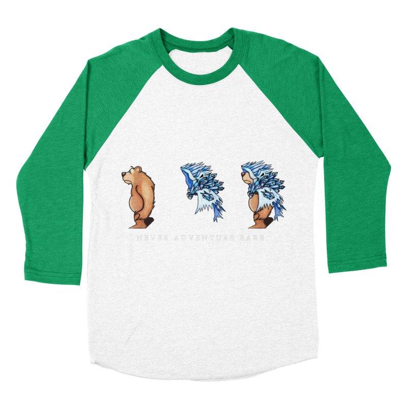 Blue Bear Women's Baseball Triblend Longsleeve T-Shirt by Norman Wilkerson Designs