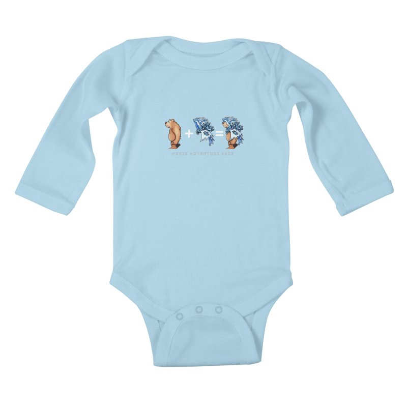 Blue Bear Kids Baby Longsleeve Bodysuit by Norman Wilkerson Designs