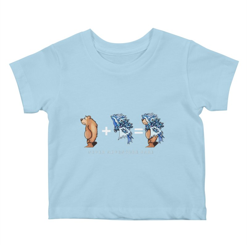 Blue Bear Kids Baby T-Shirt by Norman Wilkerson Designs