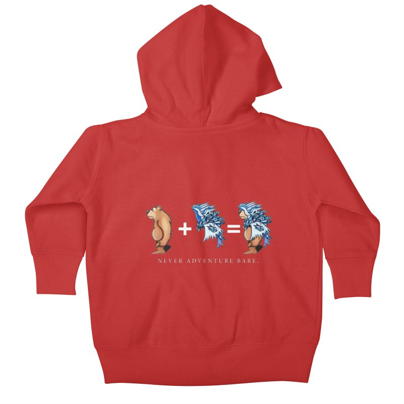 Blue Bear Kids Baby Zip-Up Hoody by Norman Wilkerson Designs