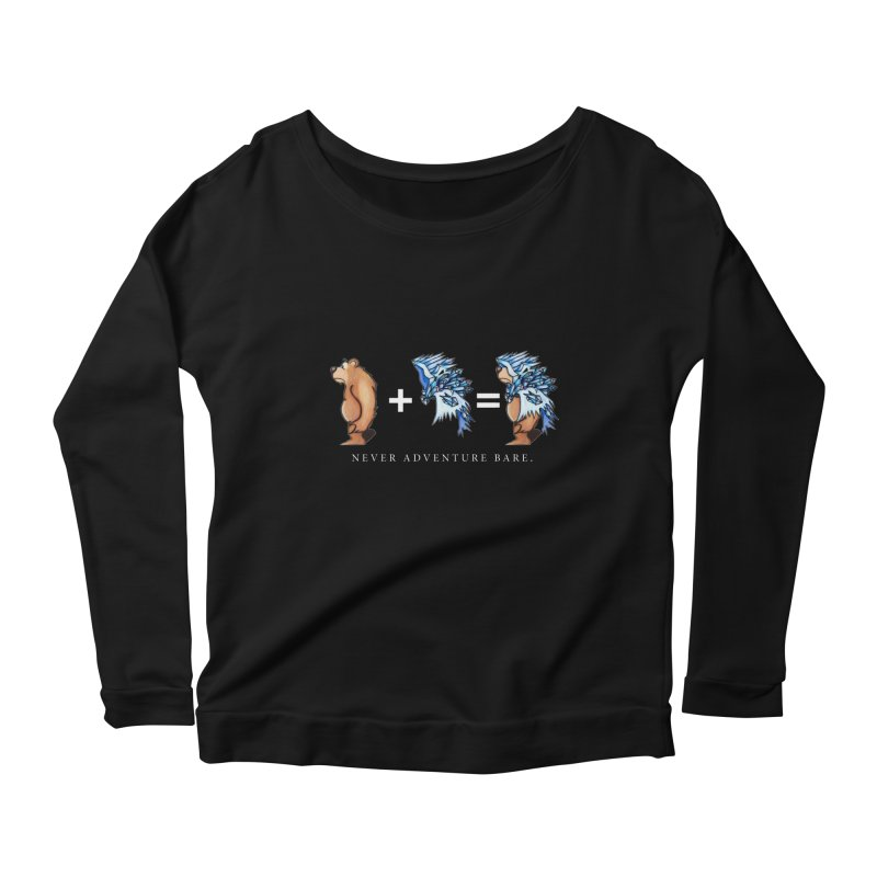Blue Bear Women's Scoop Neck Longsleeve T-Shirt by Norman Wilkerson Designs