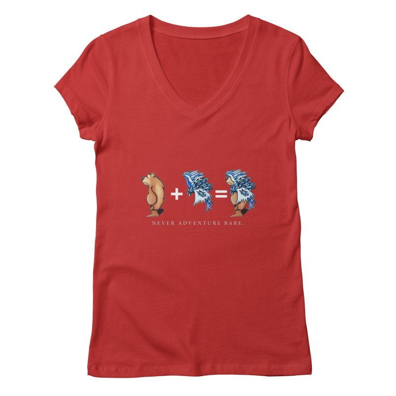 Blue Bear Women's Regular V-Neck by Norman Wilkerson Designs