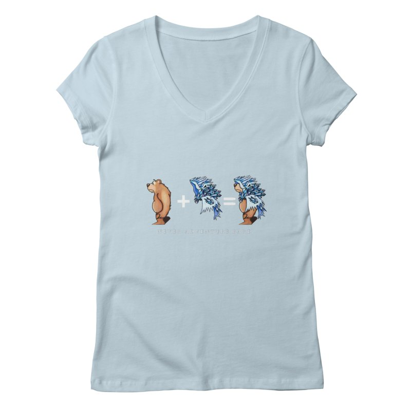 Blue Bear Women's Regular V-Neck by Norman Wilkerson Designs