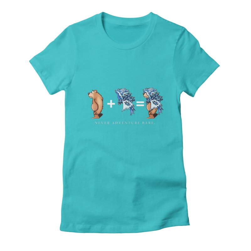 Blue Bear Women's Fitted T-Shirt by Norman Wilkerson Designs