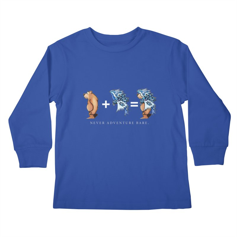 Blue Bear Kids Longsleeve T-Shirt by Norman Wilkerson Designs