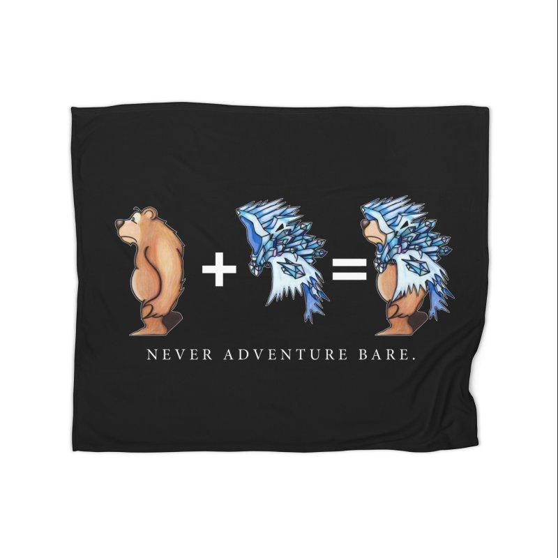 Blue Bear Home Fleece Blanket Blanket by Norman Wilkerson Designs