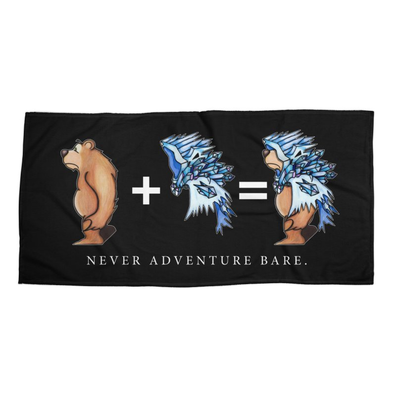 Blue Bear Accessories Beach Towel by Norman Wilkerson Designs