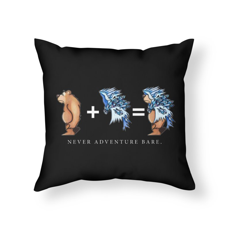 Blue Bear Home Throw Pillow by Norman Wilkerson Designs