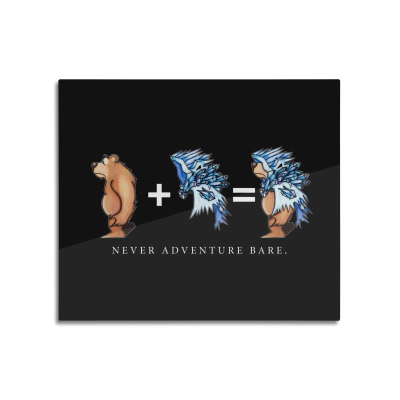 Blue Bear Home Mounted Aluminum Print by Norman Wilkerson Designs