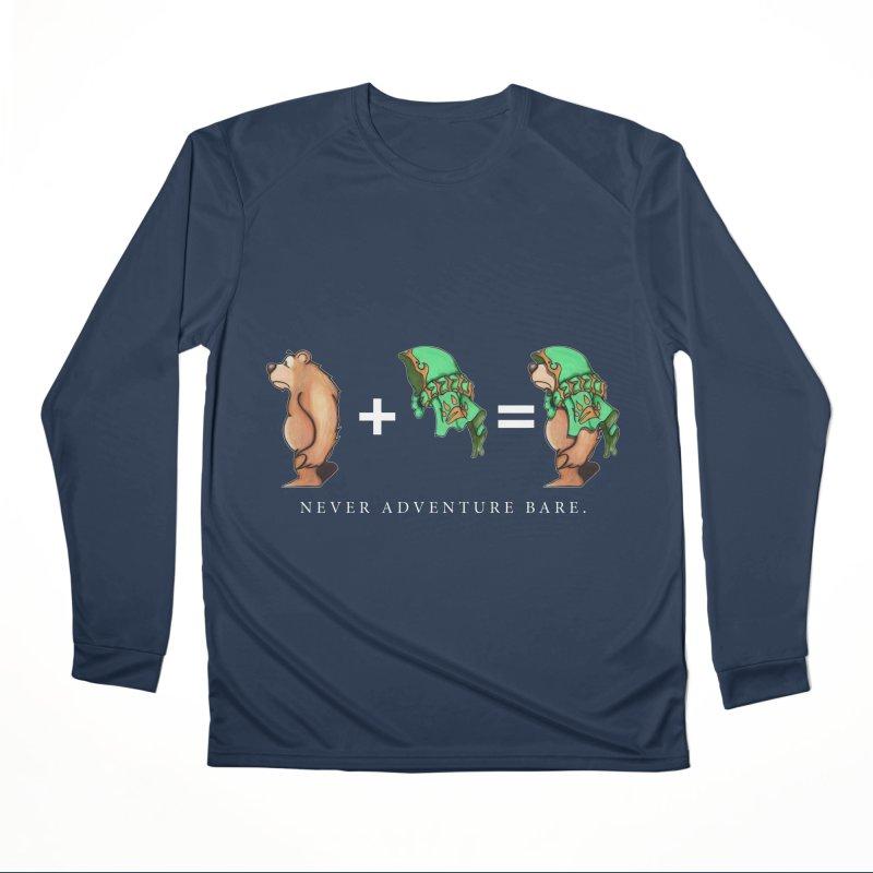 Green Bear Men's Performance Longsleeve T-Shirt by Norman Wilkerson Designs
