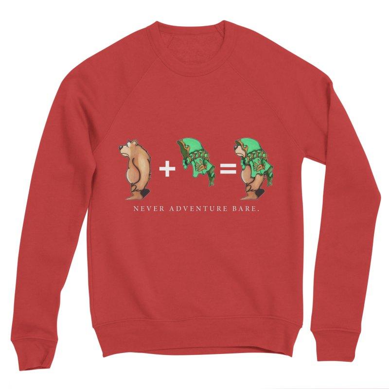 Green Bear Men's Sponge Fleece Sweatshirt by Norman Wilkerson Designs