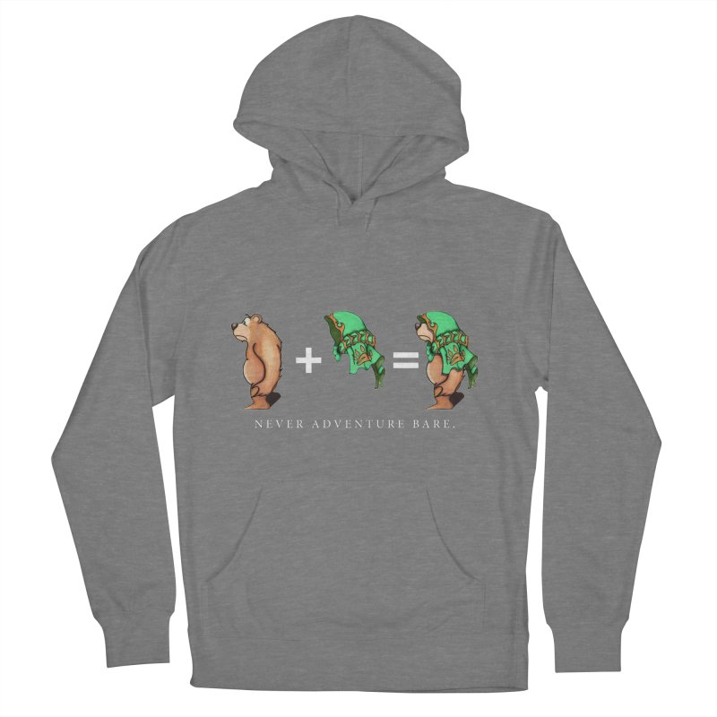 Green Bear Women's French Terry Pullover Hoody by Norman Wilkerson Designs