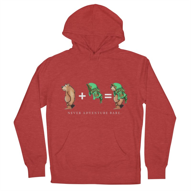 Green Bear Men's French Terry Pullover Hoody by Norman Wilkerson Designs