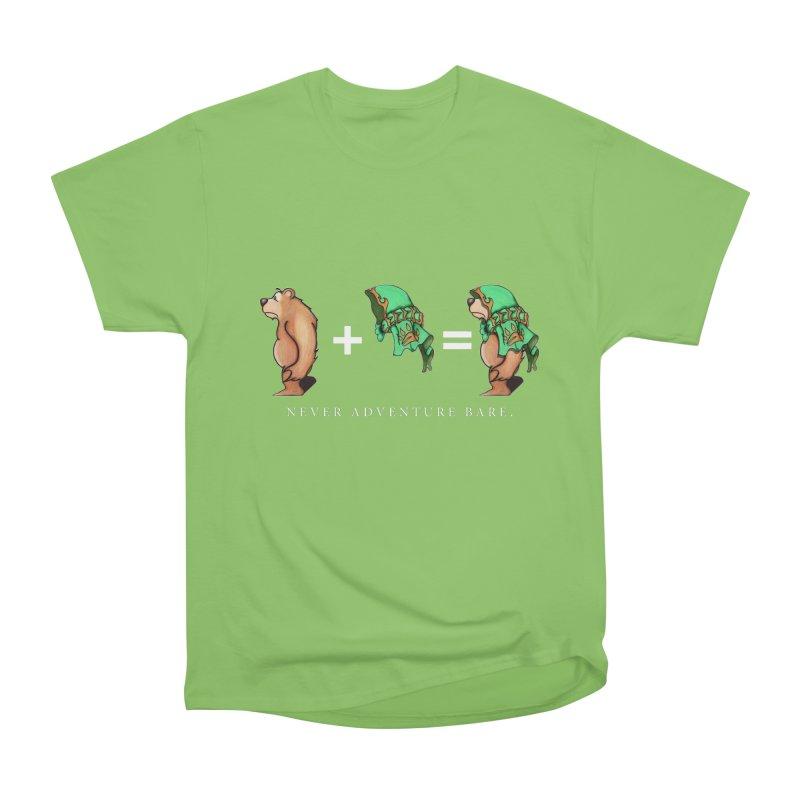 Green Bear Men's Heavyweight T-Shirt by Norman Wilkerson Designs