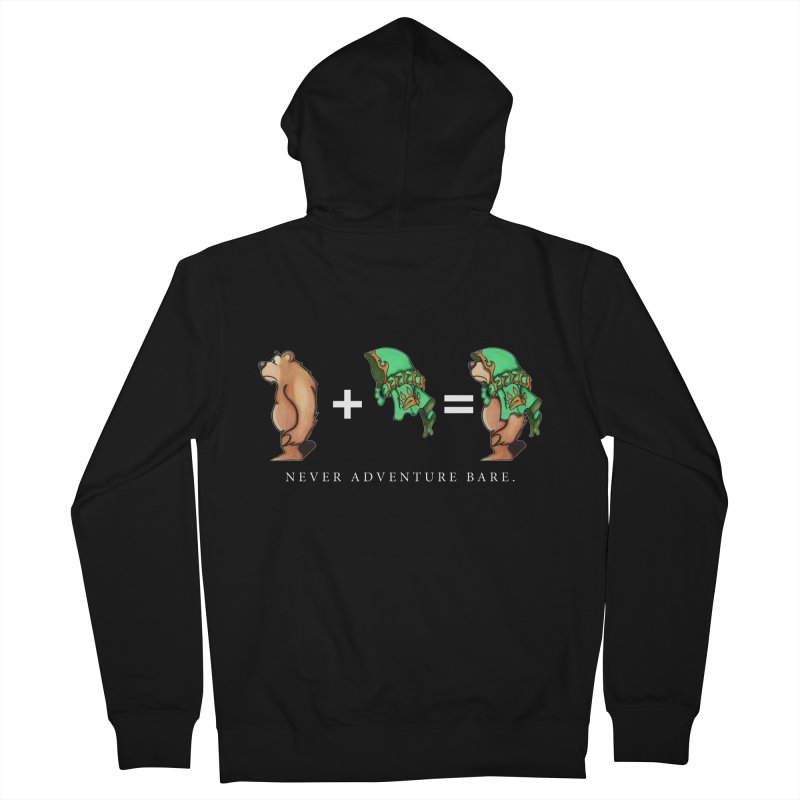 Green Bear Men's French Terry Zip-Up Hoody by Norman Wilkerson Designs
