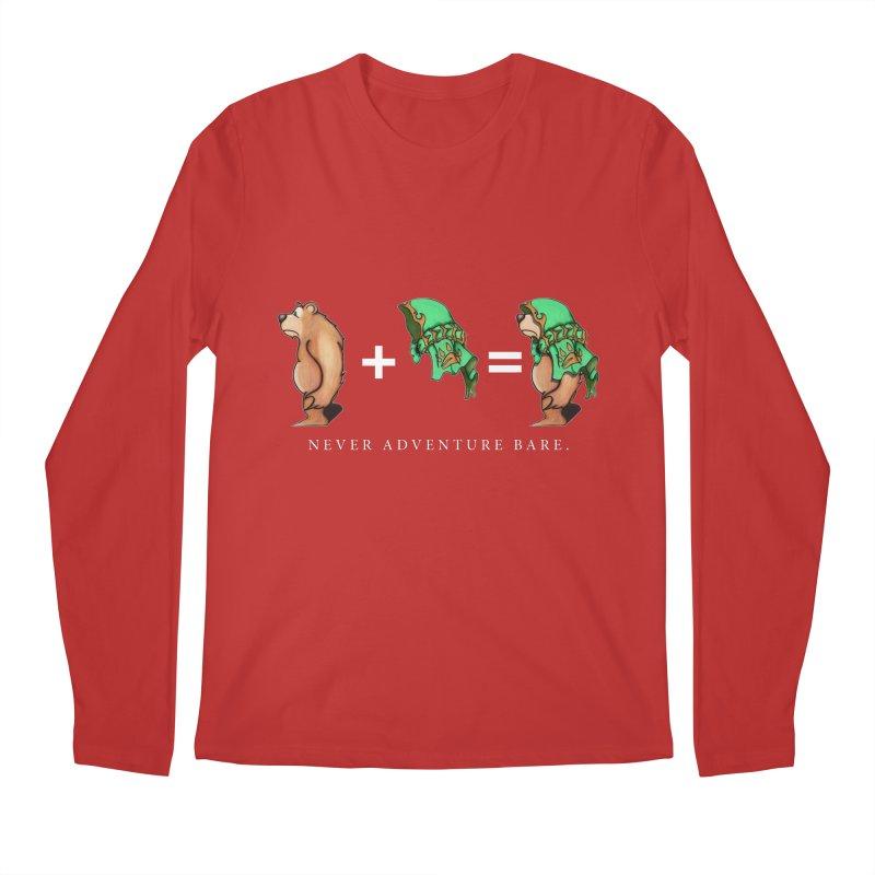 Green Bear Men's Regular Longsleeve T-Shirt by Norman Wilkerson Designs