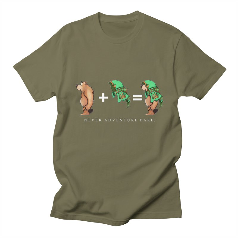 Green Bear Men's T-Shirt by Norman Wilkerson Designs